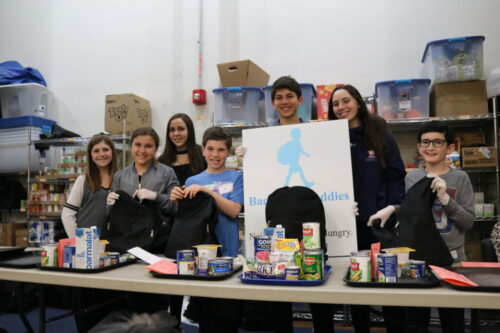 Backpack Buddies would not be possible without the work of our teens! Teens of all ages are welcome to join to help fight hunger in our community, by packing these precious backpacks.